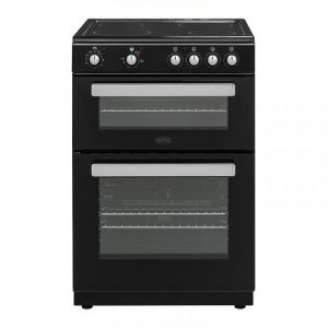 Belling 60cm Freestanding Black Electric Cooker -0