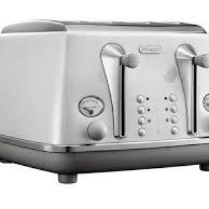Delonghi Icona Capitals White 4 Slice Toaster -0