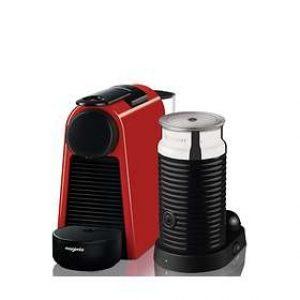 Magimix Nespresso Essenza Mini with Aeroccinno Red-0