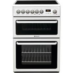 Hotpoint , 60cm, Double Oven, Freestanding Electric Cooker, White -0