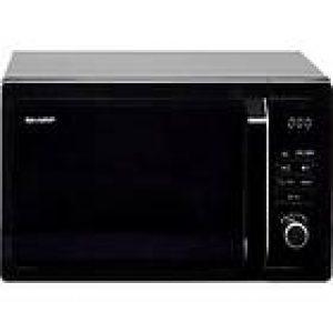 Sharp 25L 900W Digital Microwave I Black-0