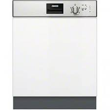 Zanussi 13 Place Semi Integrated Dishwasher - Stainless Steel Control Panel -0